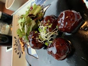 黒酢酢豚ライチ巻き